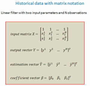 Historical data with matrix notation
