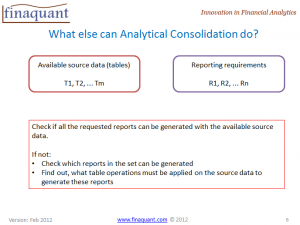 What can analytical consolidation do?