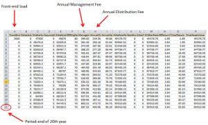 Fee results in excel file
