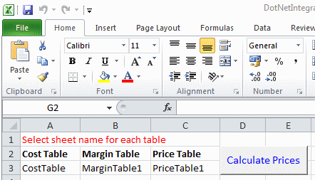 Calling .net from excel by pressing a button