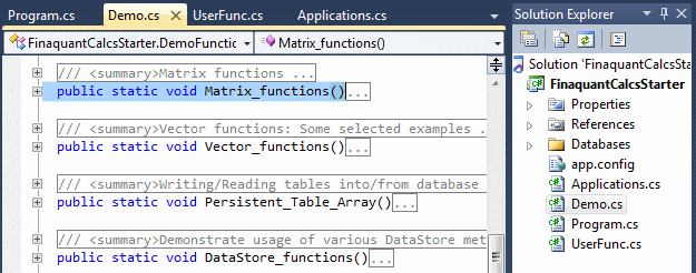 Visual Studio file FinaquantCalcsStarter