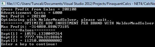 Optimal Investment Amounts