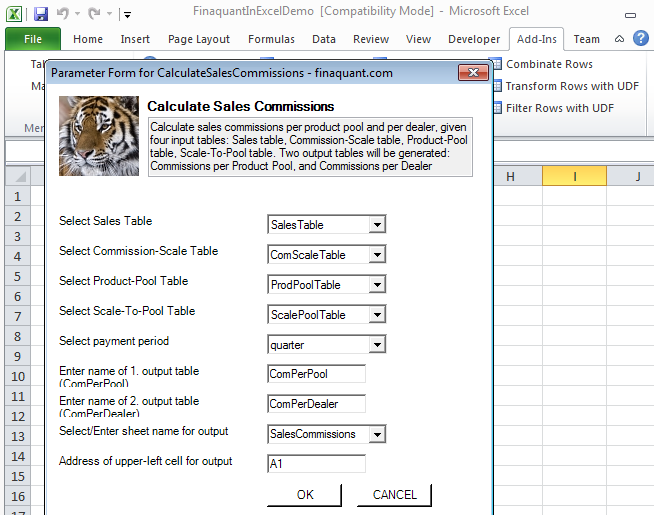 Commission Calculation in Excel